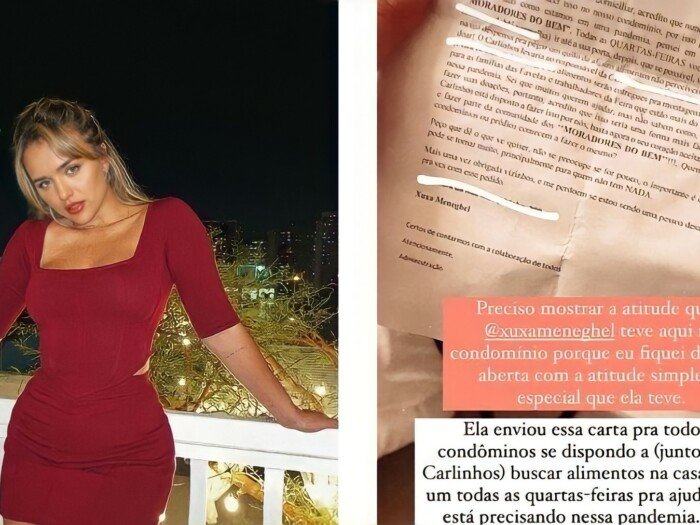 Carta que Rafa Kalimann recebeu de Xuxa Meneghel